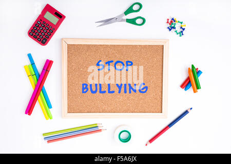 Against Bullying problem at school - Stock Image