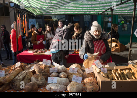 Handmade, Artisan Bread For Sale at the Weekly Broadway Street Market, Hackney, London, England, Europe. - Stock Image
