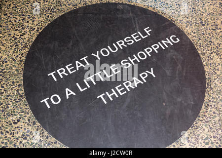Germany, Berlin. Inspirational sign at a shopping mall. Credit as: Wendy Kaveney / Jaynes Gallery / DanitaDelimont.com - Stock Image
