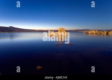 Mono Lake at Night Lee Vining California - Stock Image