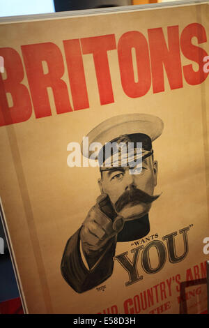 Lord Kitchener wants you war recruitment poster from 1914 - Stock Image