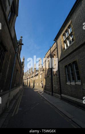 Trinity Lane Cambridge 2019 - Stock Image