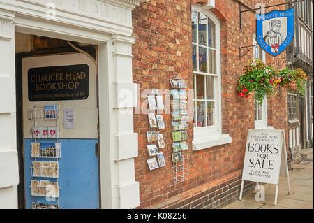 Secondhand bookshop in Stratford upon Avon - Stock Image