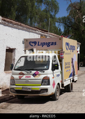 Hyundai H100 Lipigas delivery truck Chile 2019 - Stock Image