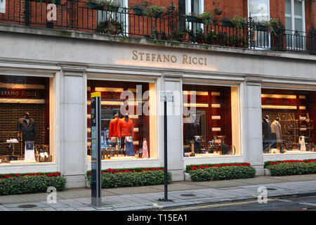 Stefano Ricci on South Audley Street, Mayfair, London, England, UK - Stock Image