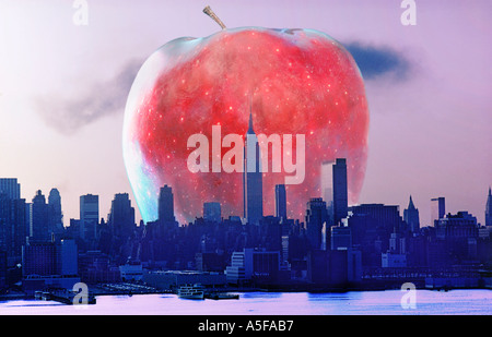 New York City the Big Apple - Stock Image