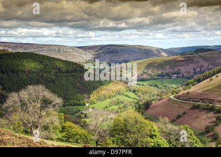 Horse Shoe Pass in Wales - Stock Image