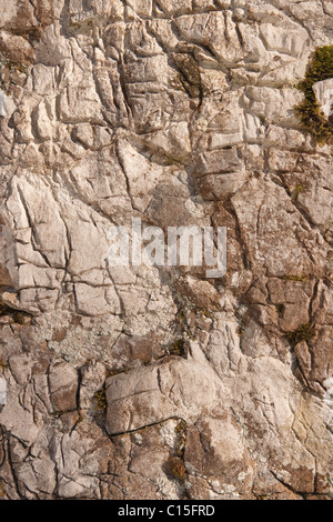 Rough stone background with textured surface - Stock Image
