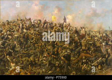.  English: Custer's Last Stand  1899 17 Edgar Samuel Paxson - Custer's Last Stand - Stock Image
