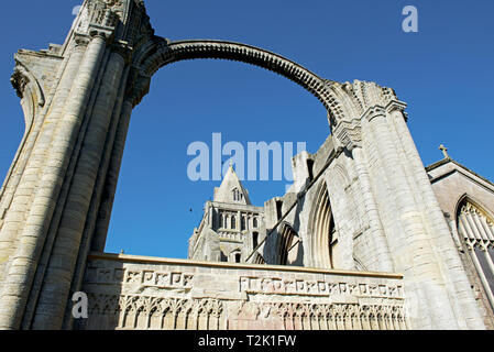 Crowland Abbey, Crowland, South Holland, Lincolnshire, England UK - Stock Image