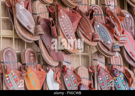 traditional shoe of Arab cloth - Stock Image