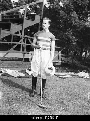 Polo Player, Meadow Brook Club, Westbury, New York, 1939 - Stock Image