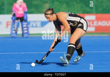 Krefeld, Germany, June 12 2019, Hockey, FIH Pro League, women, Germany vs. Belgium: Viktoria Huse (Germany) in action. - Stock Image