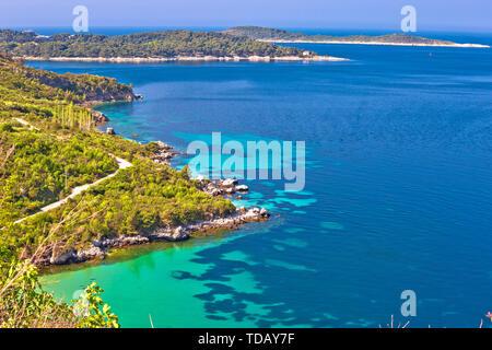 Dubrovnik archipelago coastline view near Cavtat, Konavle region of Dalmatia, Croatia - Stock Image