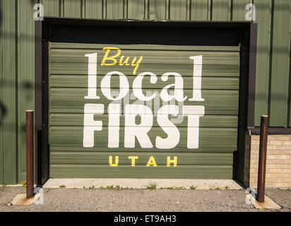 Buy Local First - Salt Lake City, Utah - Stock Image
