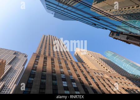 Skyscrapers view  from Fifth Avenue . New York City, USA - Stock Image