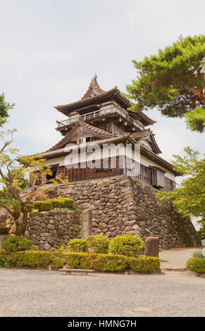 Main keep (tenshu) of Maruoka Castle (circa 1576). The oldest of only 12 survived castles, Important Cultural Property - Stock Image