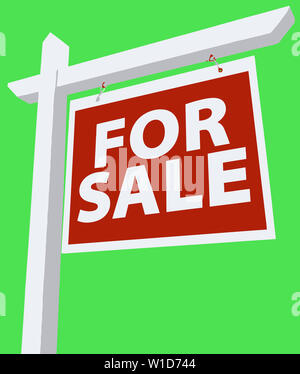 for sale sign buy message board home illustration - Stock Image