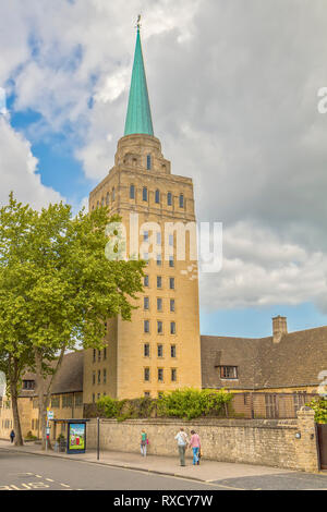 UK Oxford Nuffield College Tower - Stock Image