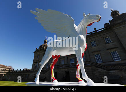 Damien Hirst's sculptures on display at Houghton Hall, Norfolk, UK. - Stock Image