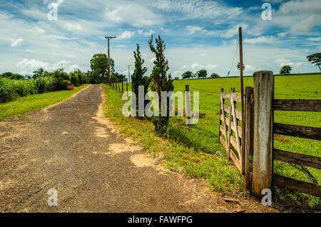 Brazilian farm gate - Stock Image