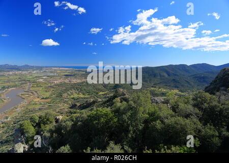 Rocher de Roquebrune sur Argens, 83, Var, Cote d'azur, PACA, - Stock Image