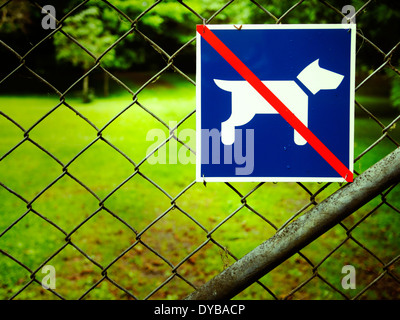 No dogs - Stock Image
