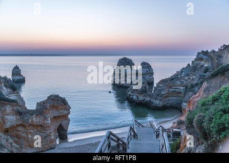 Algarve, morning scenics. Praia do Camilo Portugal, Europe - Stock Image