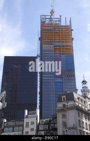 Cheesegrater Building under construction London June 2013 - Stock Image