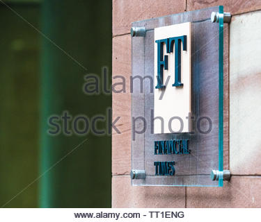 FT Financial Times Headquarters at Bracken House in the City of London Financial District. The FT returned to its historic home in 2019. - Stock Image