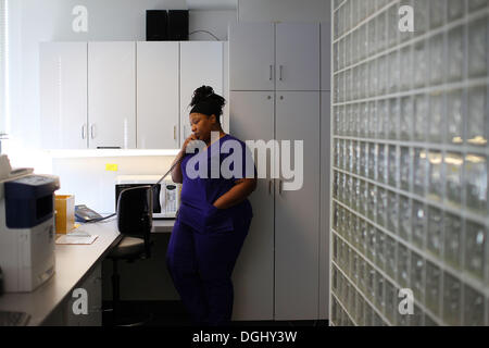 Cleveland, Ohio, USA. 30th Sep, 2013. Angel Rucker, BSN RN is the Director of clinical services at preterm. Ohio's - Stock Image