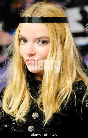 Anya Taylor-Joy at the UK Premiere of GLASS on Wednesday 9 January 2019 held at Curzon, Mayfair, London. Pictured: Anya Taylor-Joy. Picture by Julie Edwards/LFI/Avalon.  All usages must be credited Julie Edwards/LFI/Avalon. - Stock Image