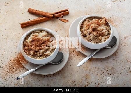 Cauliflower rice pudding - Stock Image