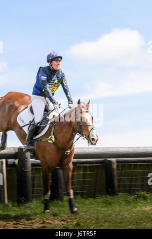 Rockingham Castle, Corby, UK. 21st May, 2017. Riding Big Class Affair, Zara Tindall (granddaughter of Queen Elizabeth - Stock Image
