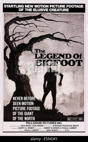 THE LEGEND OF BIGFOOT, US poster art, 1976 - Stock Image