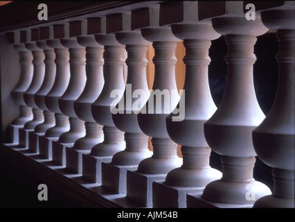 Pillars in big house symbolic regular carrying - Stock Image