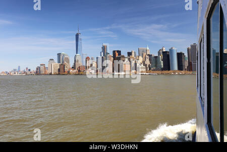 New York from ship - Stock Image