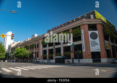Located in the emblematic neighborhood of San Telmo, the Museum of Modern Art (MAMBA) exhibits Argentine and international works of art. - Stock Image