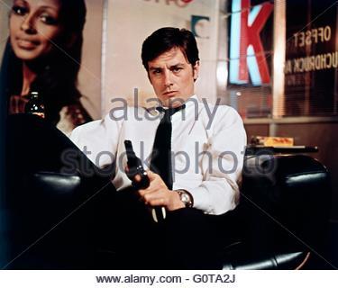 Alain Delon / The Sicilian Clan / 1969 directed by Henri Verneuil  (Les Productions Fox Europa / Les Films du Siècle) - Stock Image