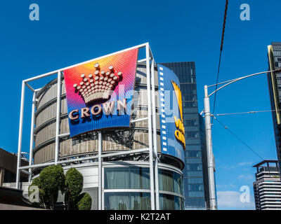 Crown casino at Southbank, Melbourne, Victoria, Australia - Stock Image