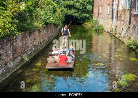 River,Trip,Tour,River Stour,Canterbury,Kent,England,UK - Stock Image