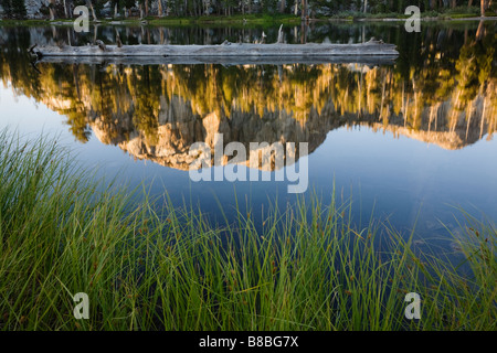 Reflection in Gem Lake Emigrant Wilderness Area California USA - Stock Image