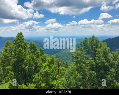 View from the tower at Frozen Head State Park. - Stock Image