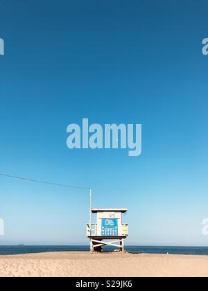 A lifeguard tower at the beach. El Segundo, California USA. - Stock Image