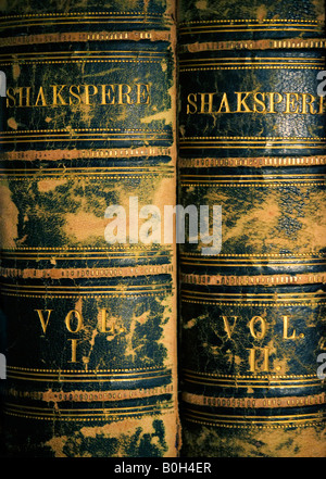 Two Volume Edition of the Works of Shakespeare as SHAKSPERE 1874 Imperial Edition ed Charles Knight published by - Stock Image