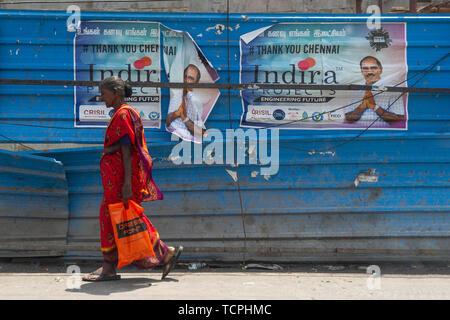 Poverty in Chennai, India, where - Stock Image