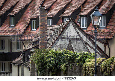 Living and living in the old town of Nuremberg - Stock Image