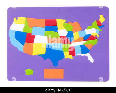 Rubber map of the USA - Stock Image