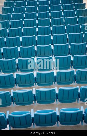 Empty seats at a stadium - Stock Image
