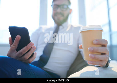 Having coffee at break - Stock Image